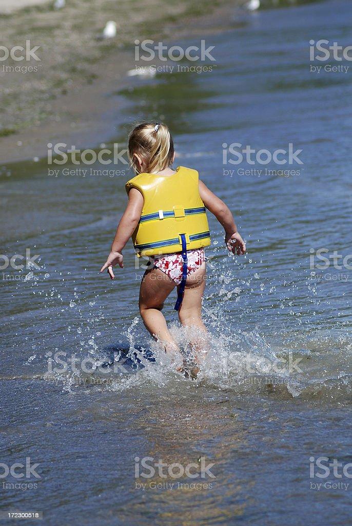 Splashing in Lake Erie royalty-free stock photo