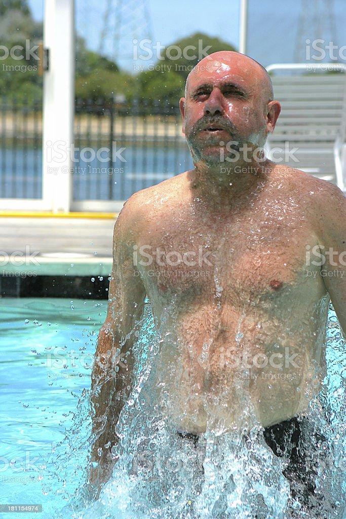 Splashing in the Pool stock photo