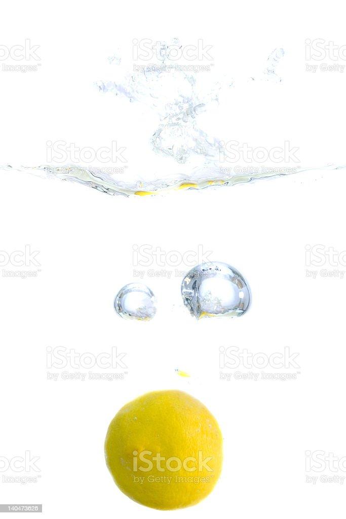 Splashing Lemon royalty-free stock photo