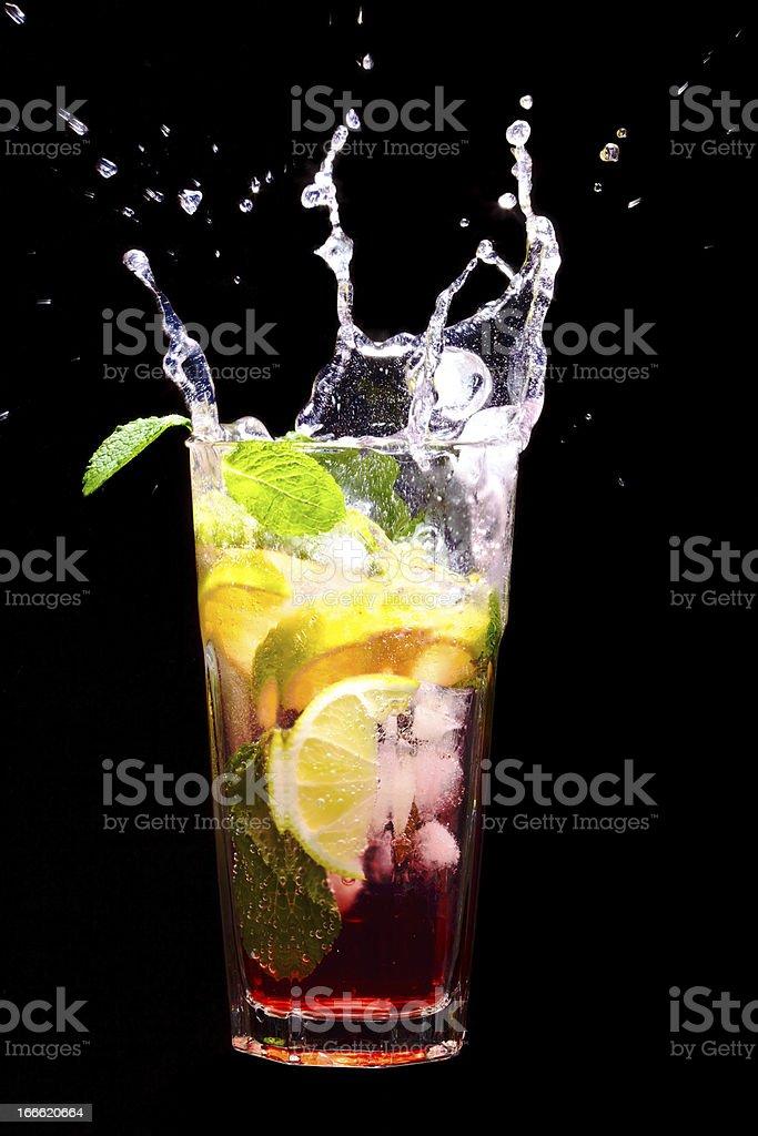 Splashing Mojito Cocktail royalty-free stock photo