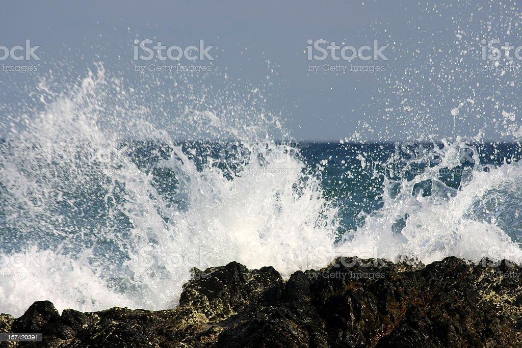 splashing ocean wave royalty-free stock photo