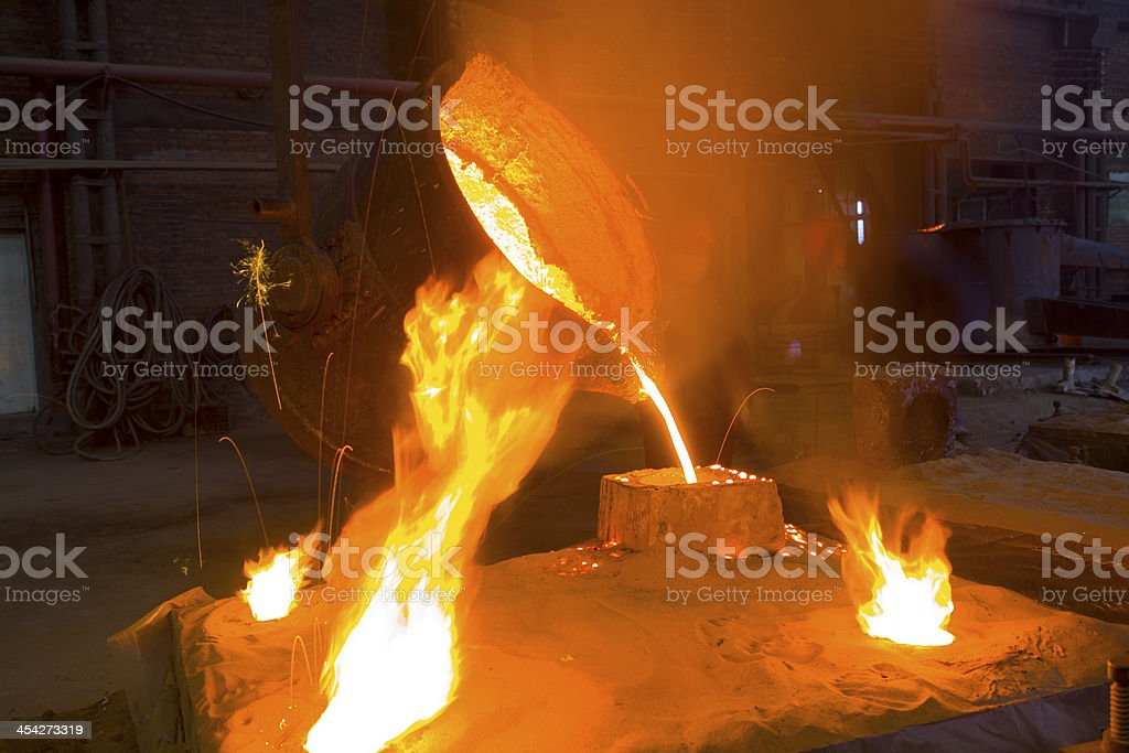 Splashing of iron water royalty-free stock photo