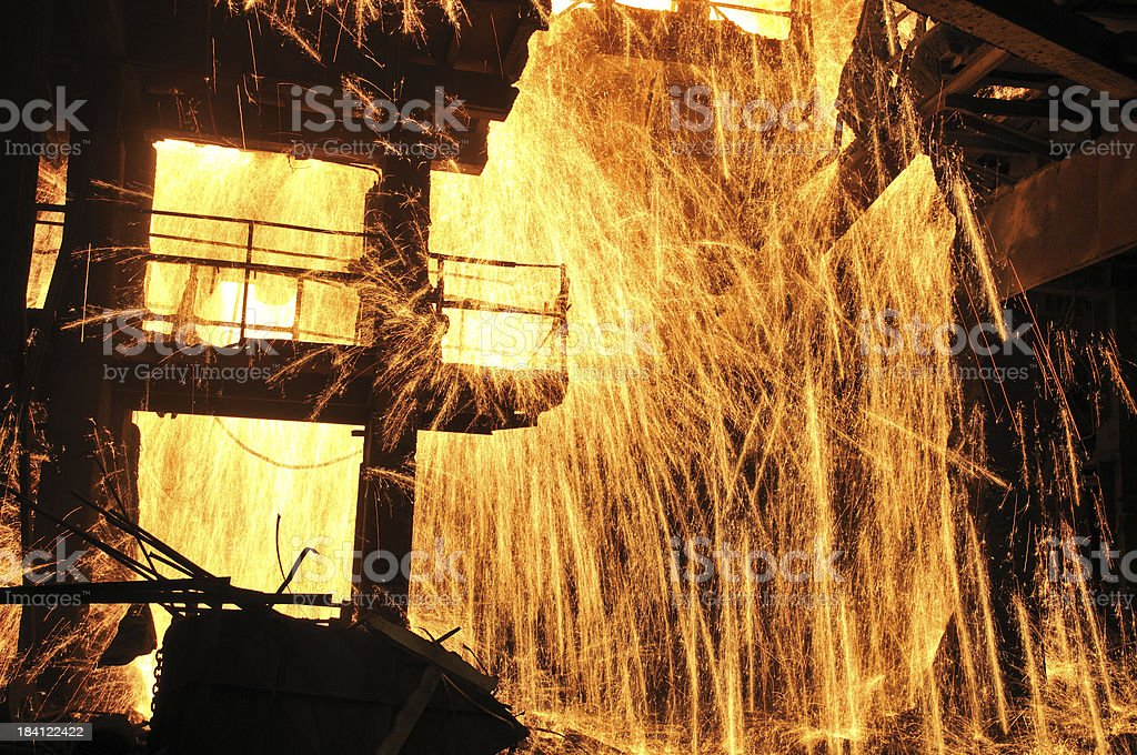 Splashing of steel water royalty-free stock photo