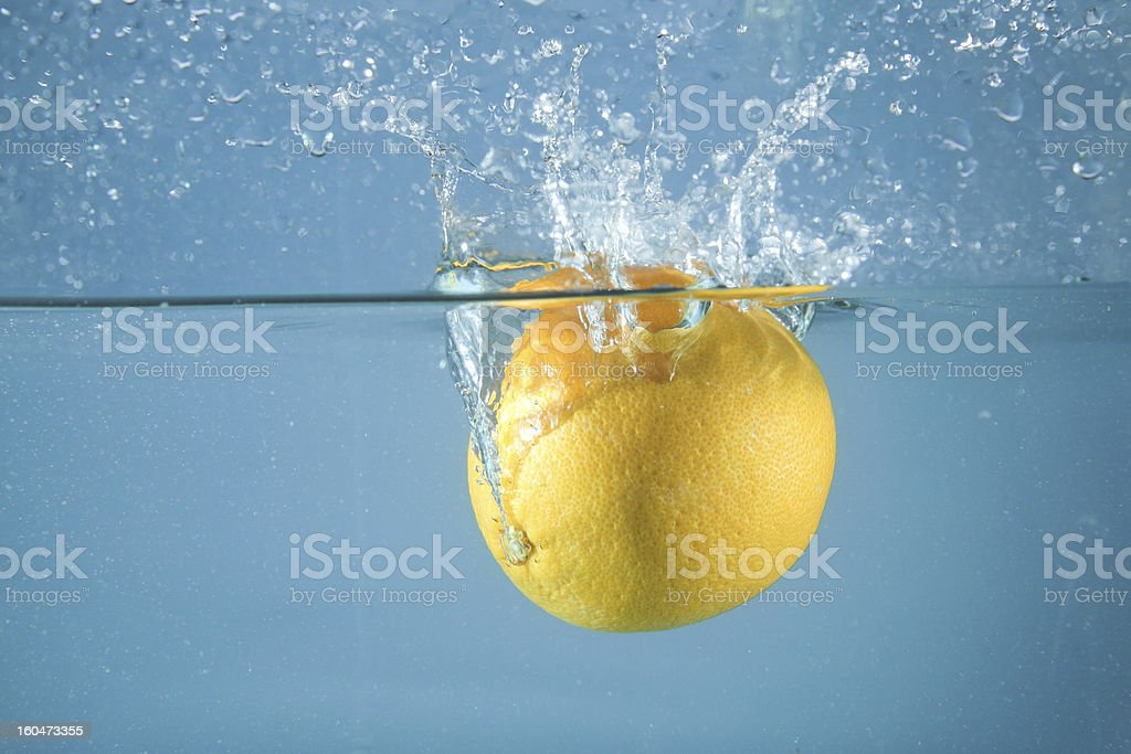 Splashing orange royalty-free stock photo