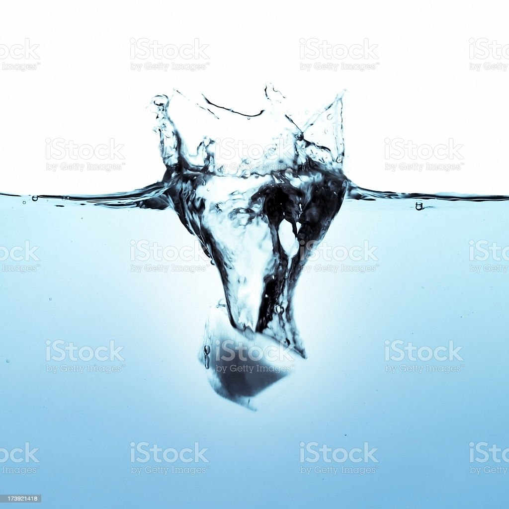Splashing royalty-free stock photo
