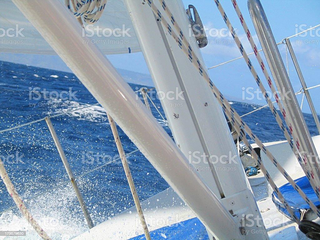 Splashing Sailboat (Close-up) royalty-free stock photo