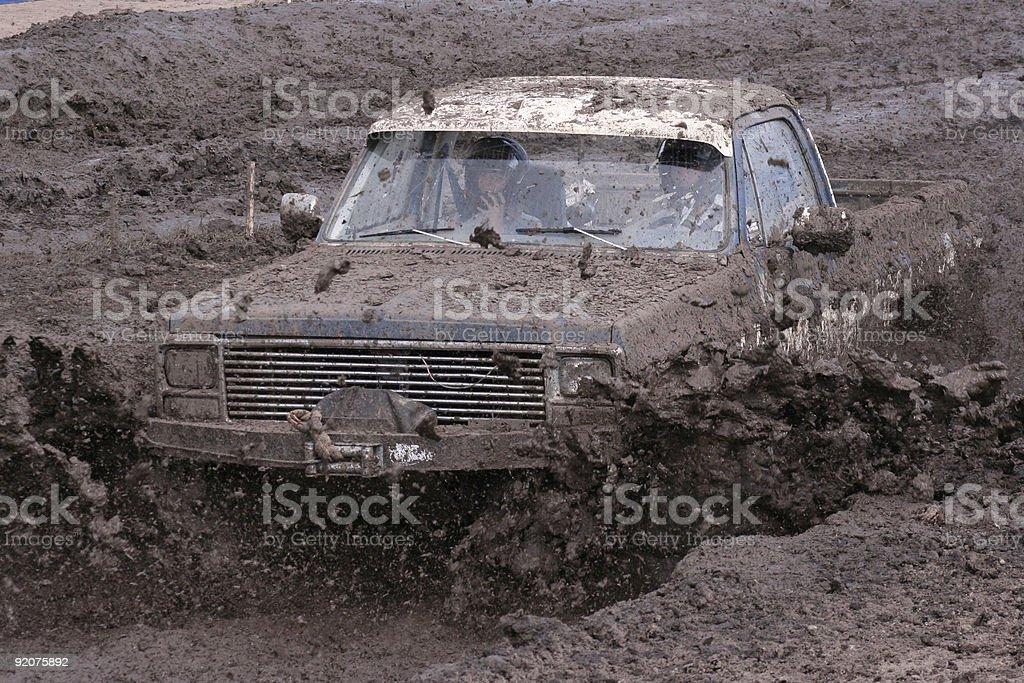 Splashing Through Mud royalty-free stock photo