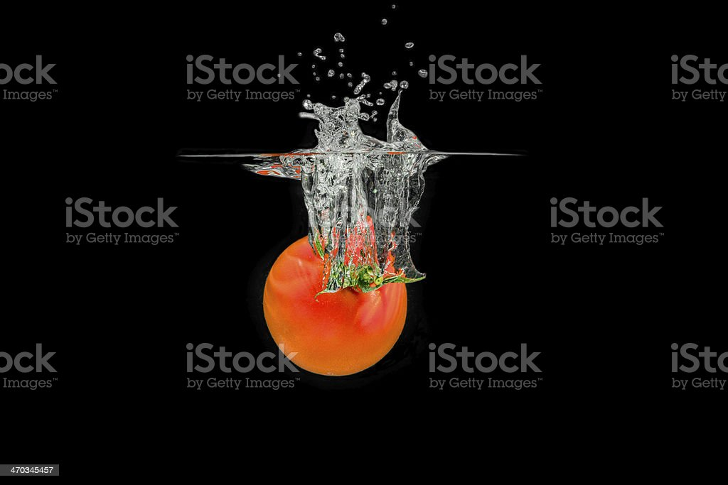 Splashing Tomatoe stock photo