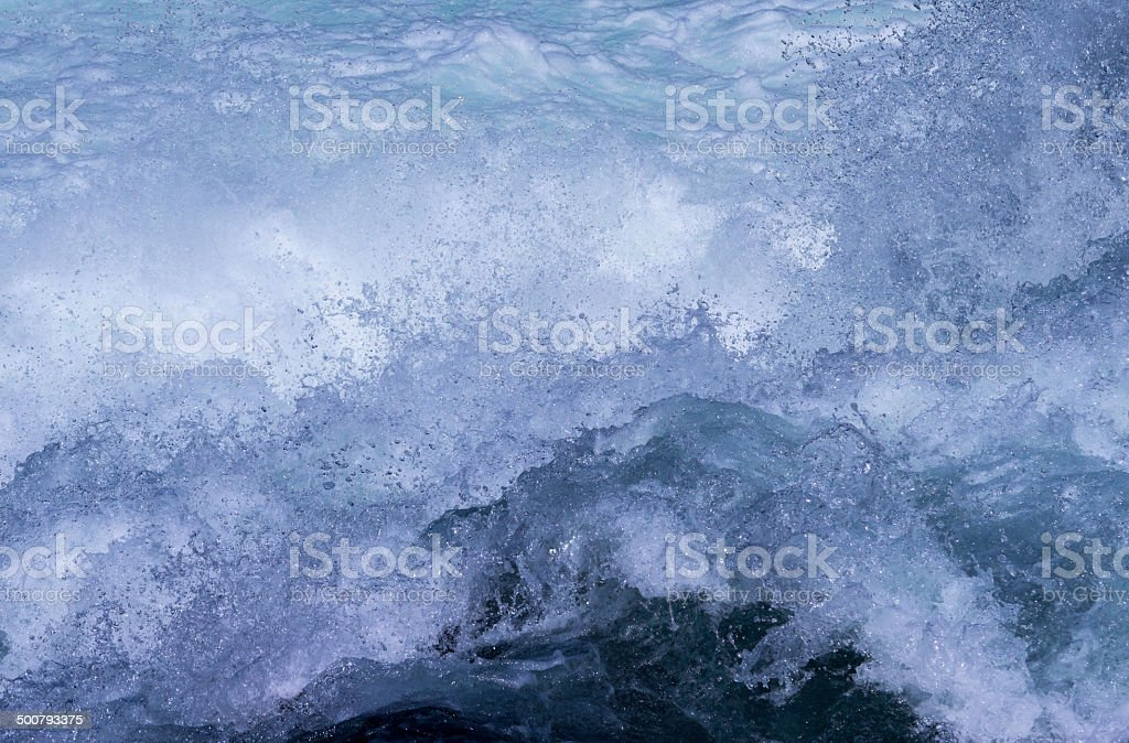Splashing Water in a Rapid Stream/River royalty-free stock photo