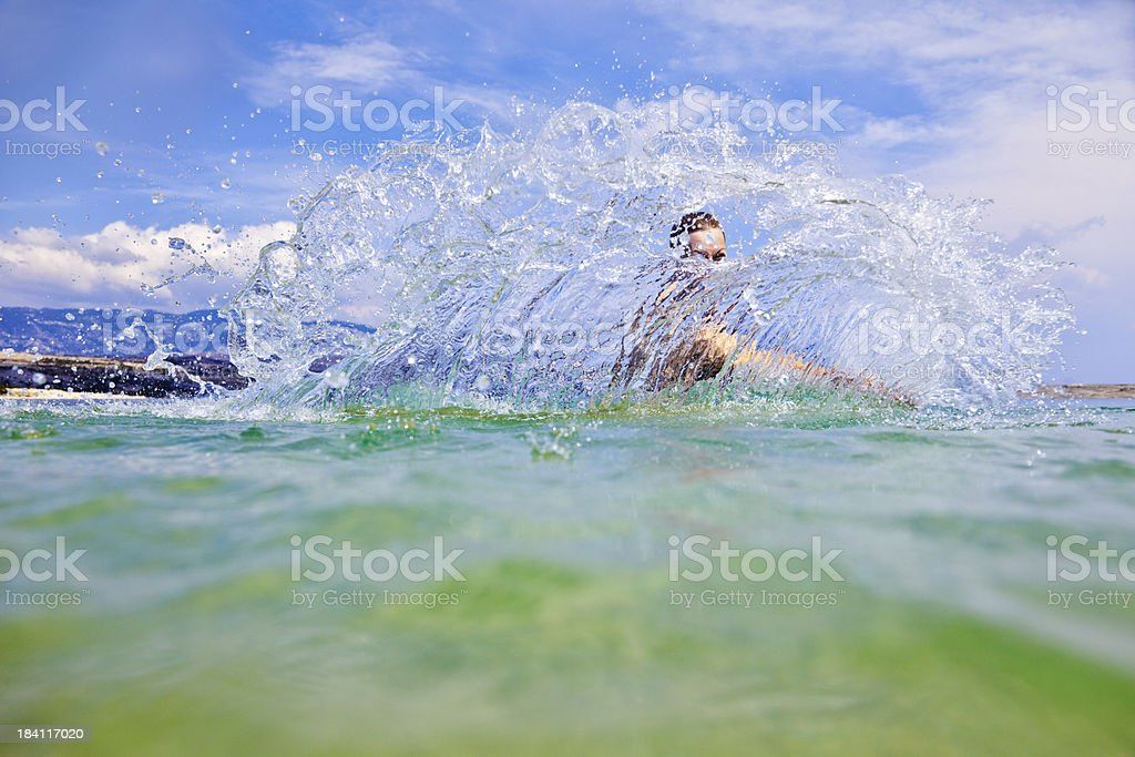 Splashing water stock photo