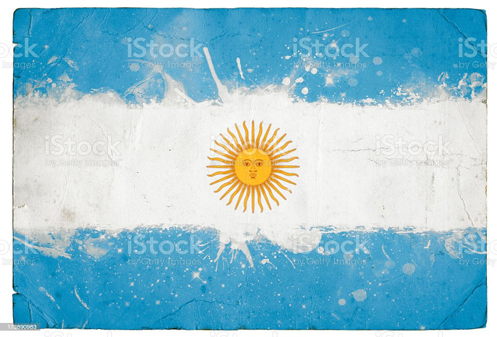 Splatter Argentinian Flag royalty-free stock photo
