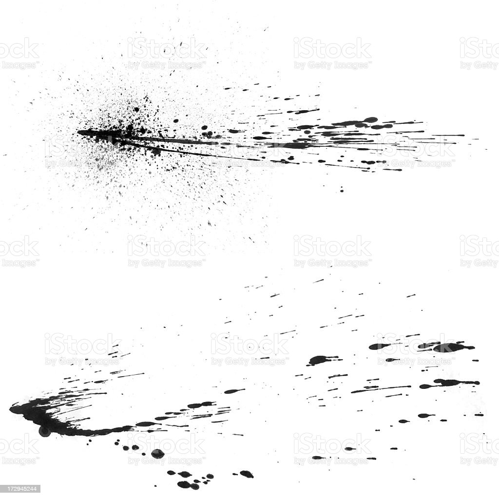 Splatter Effect royalty-free stock photo