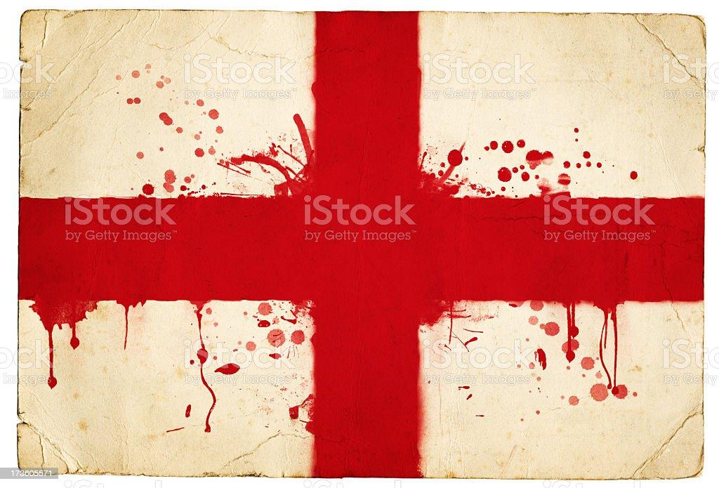 Splatter english flag stock photo