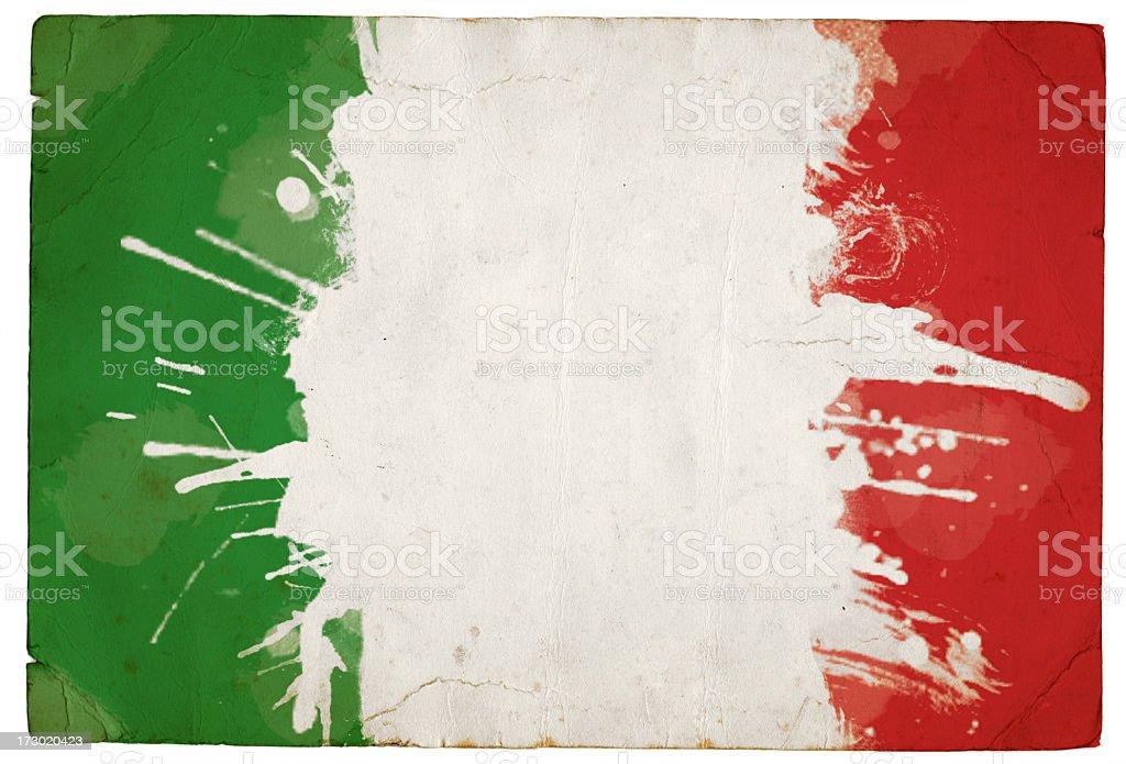 Splatter Italian tricolour stock photo