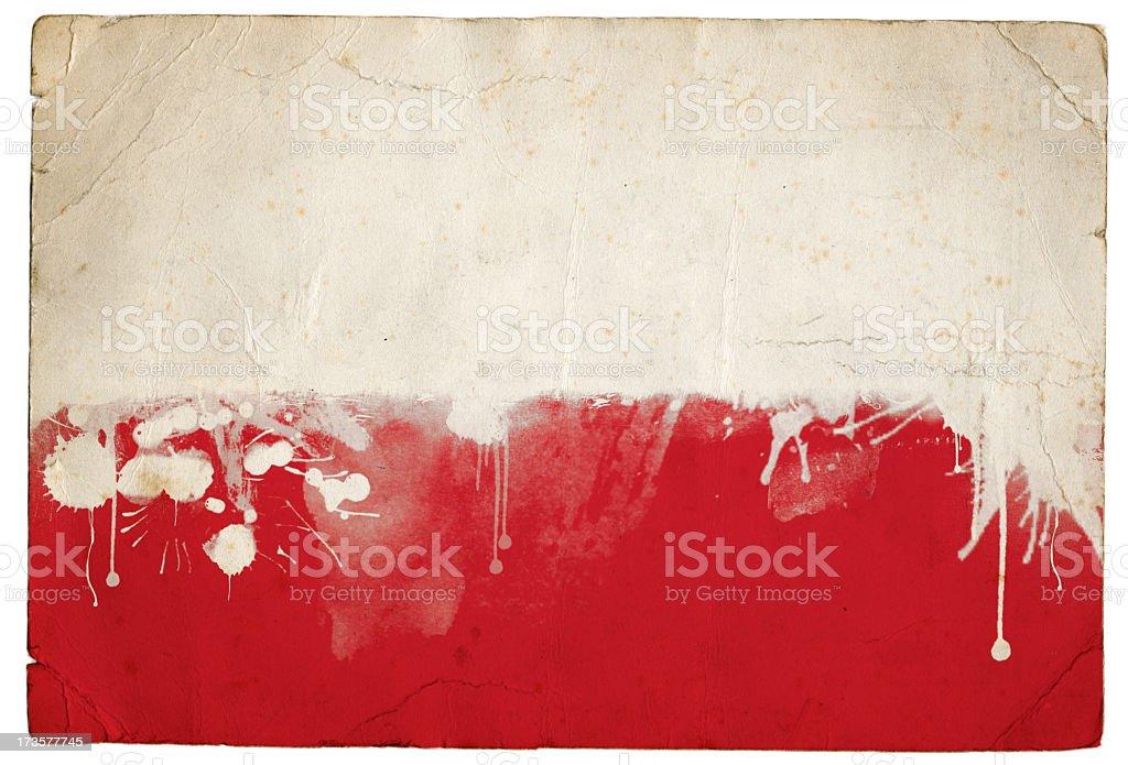 Splatter Polish Flag royalty-free stock photo
