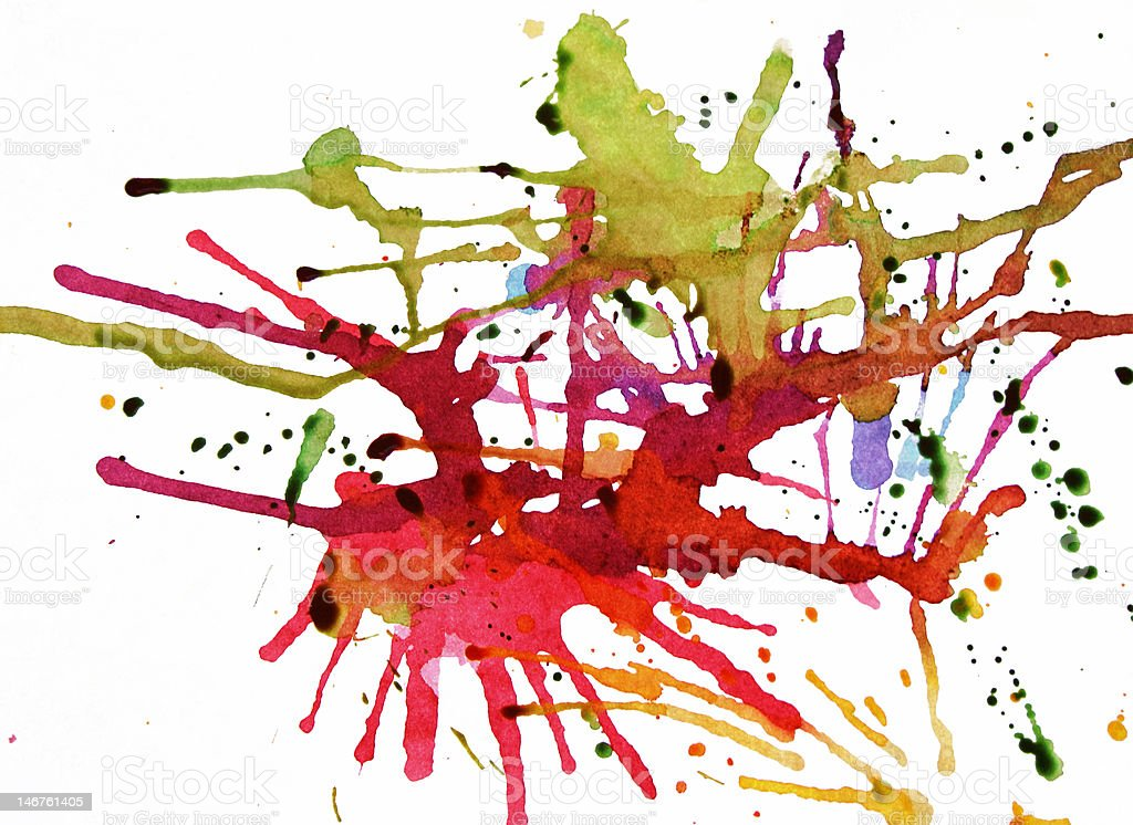 Splattered Color royalty-free stock photo