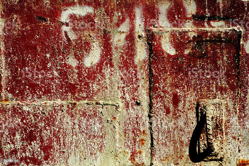 Splattered Red Wall Background royalty-free stock photo