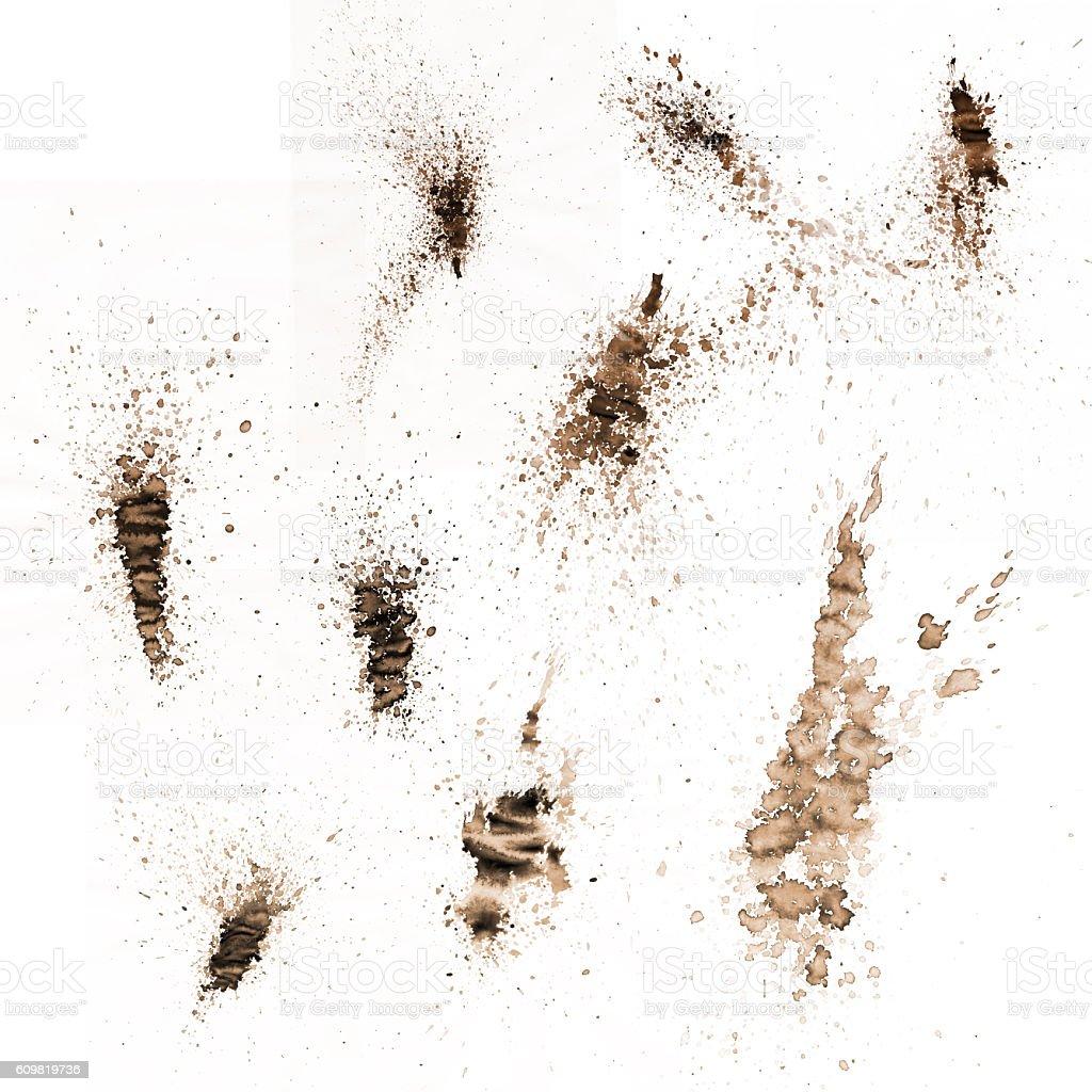 Splatters-2 stock photo