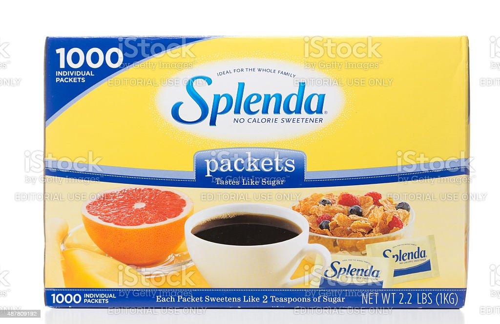 Splenda 1000 packets packaging stock photo