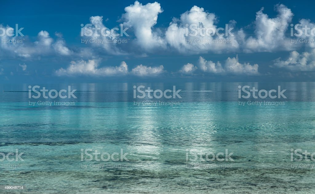 Splendid amazing inviting view of early morning ocean stock photo