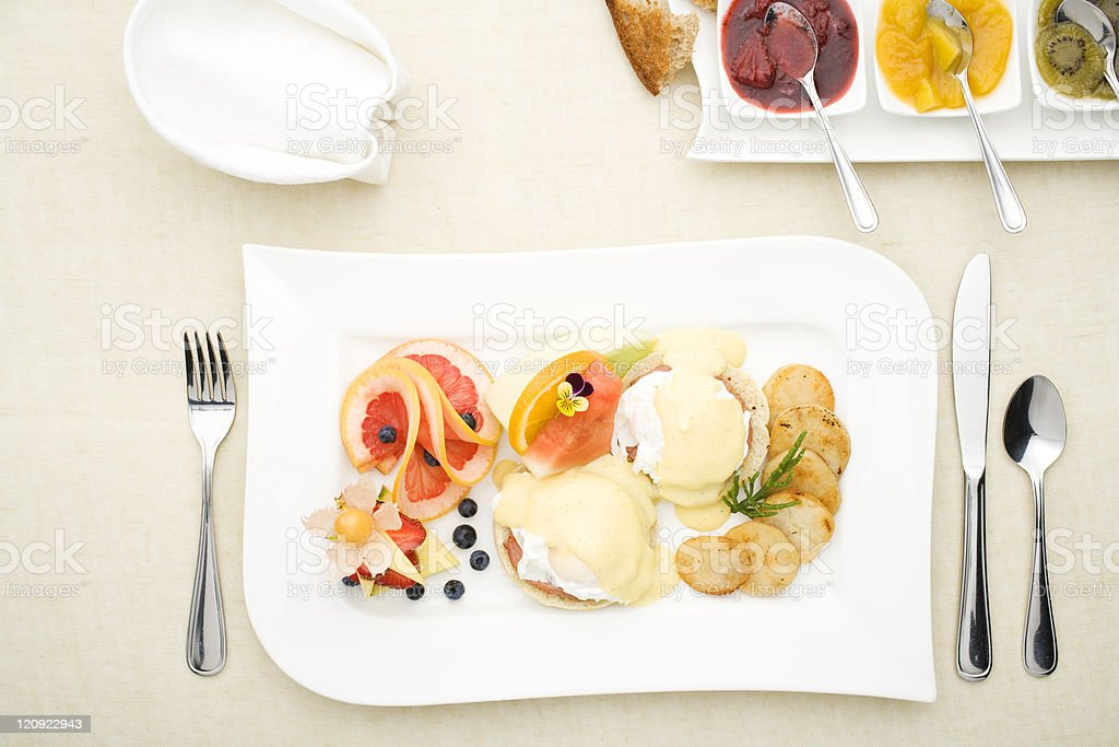 Splendid breakfast royalty-free stock photo