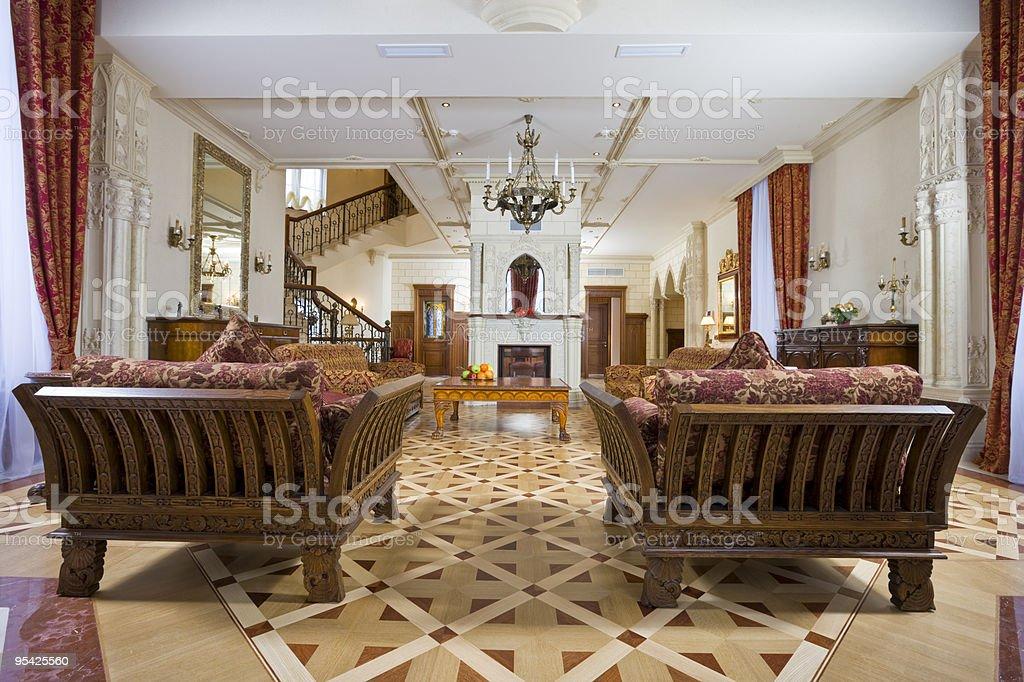 splendid drawing room stock photo