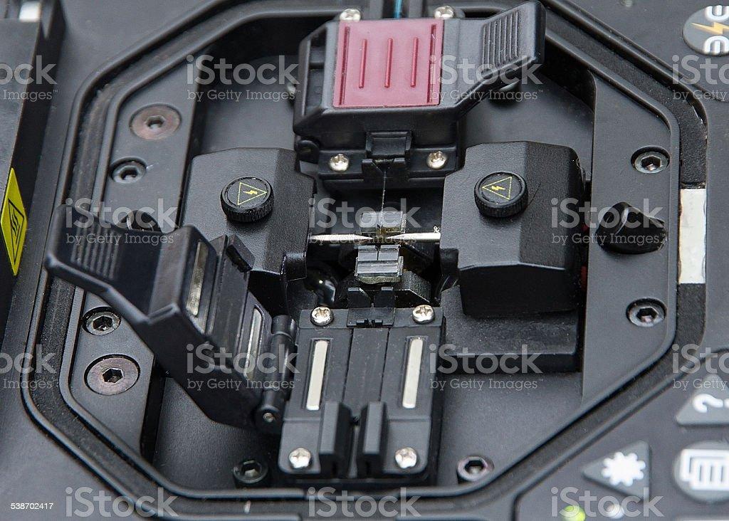 Splicer Fiber Optic Cable - Empalmadora  de  Fibra OpticA stock photo