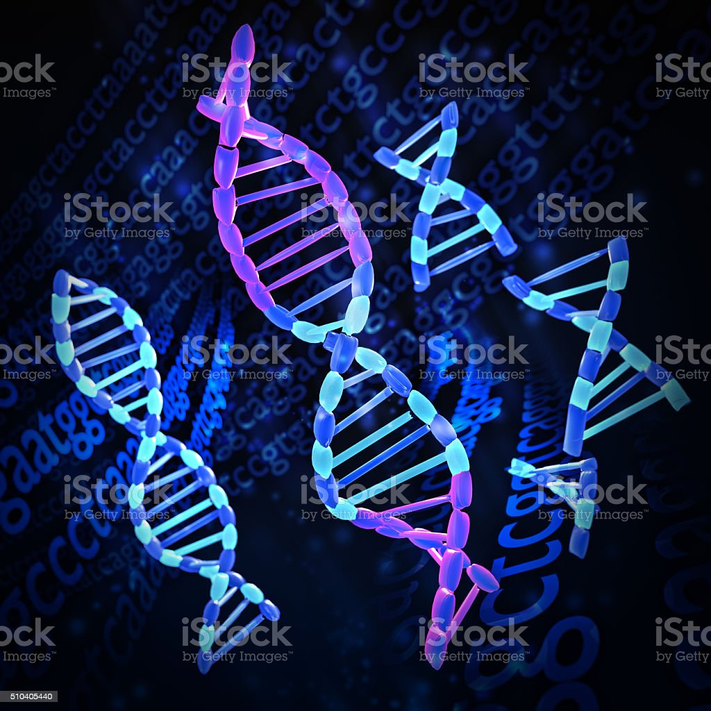DNA Splicing stock photo
