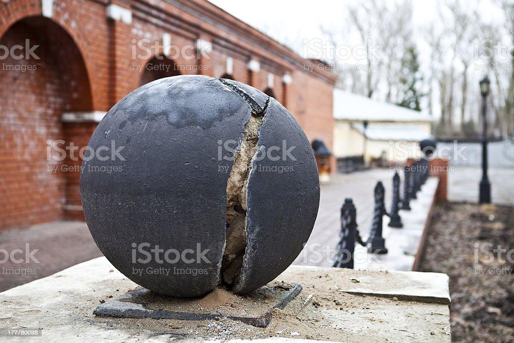 Splintered a ball royalty-free stock photo