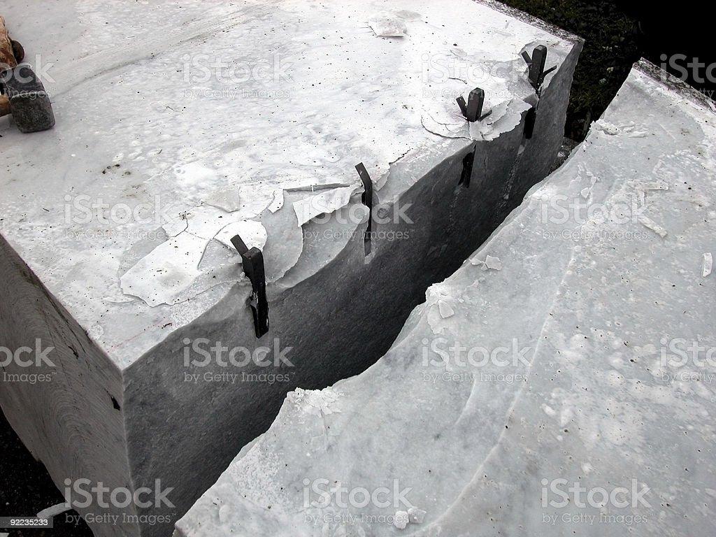 Split Block stock photo