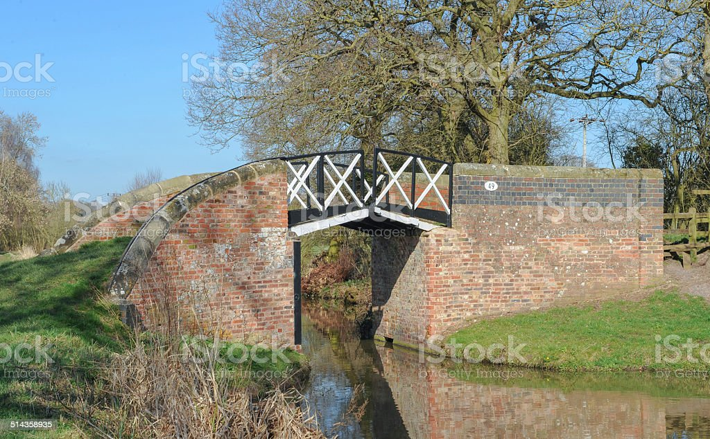 Split Bridge on Stratford-upon-Avon Canal, Warwickshire, England, UK stock photo