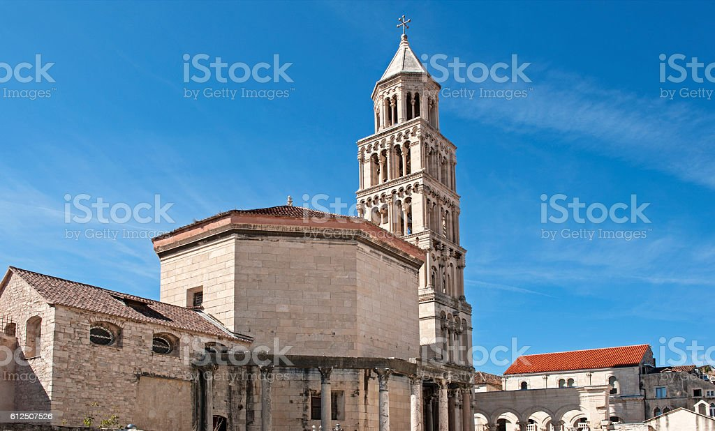 Split cathedral, Croatia stock photo