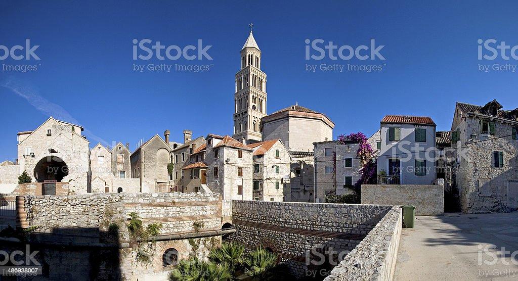 Split, Croatia - Diocletian's Palace, southeastern view stock photo