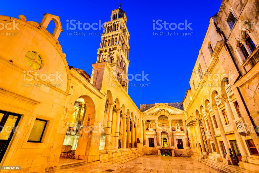 Split, Croatia - St Duje's Cathedral stock photo