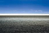 Split dramatic blue horizon on the sea.
