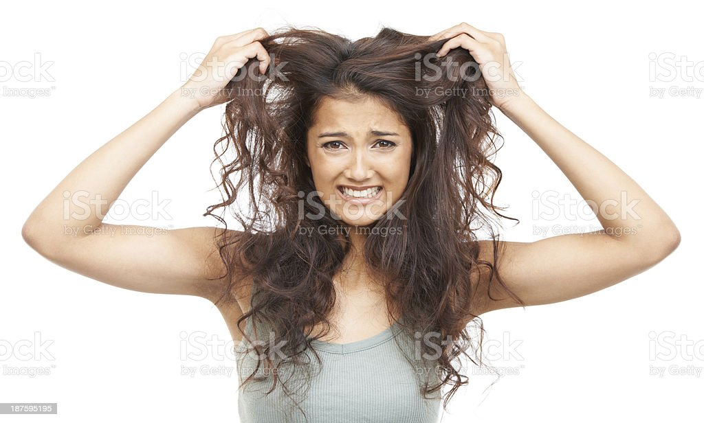 Split ends are the worst! stock photo