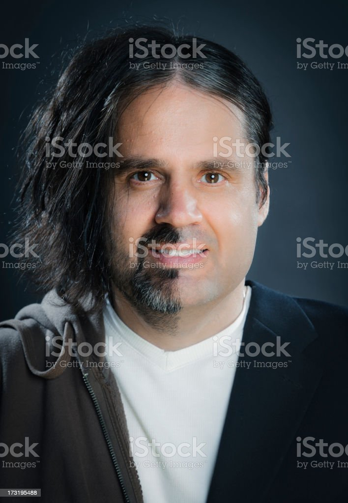 Split Faced Man stock photo