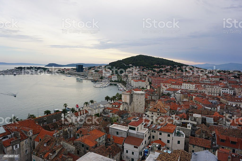 Split harbor, Croatia royalty-free stock photo