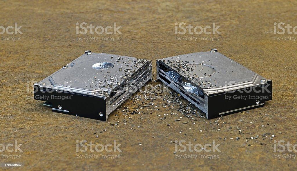 split hard disk royalty-free stock photo