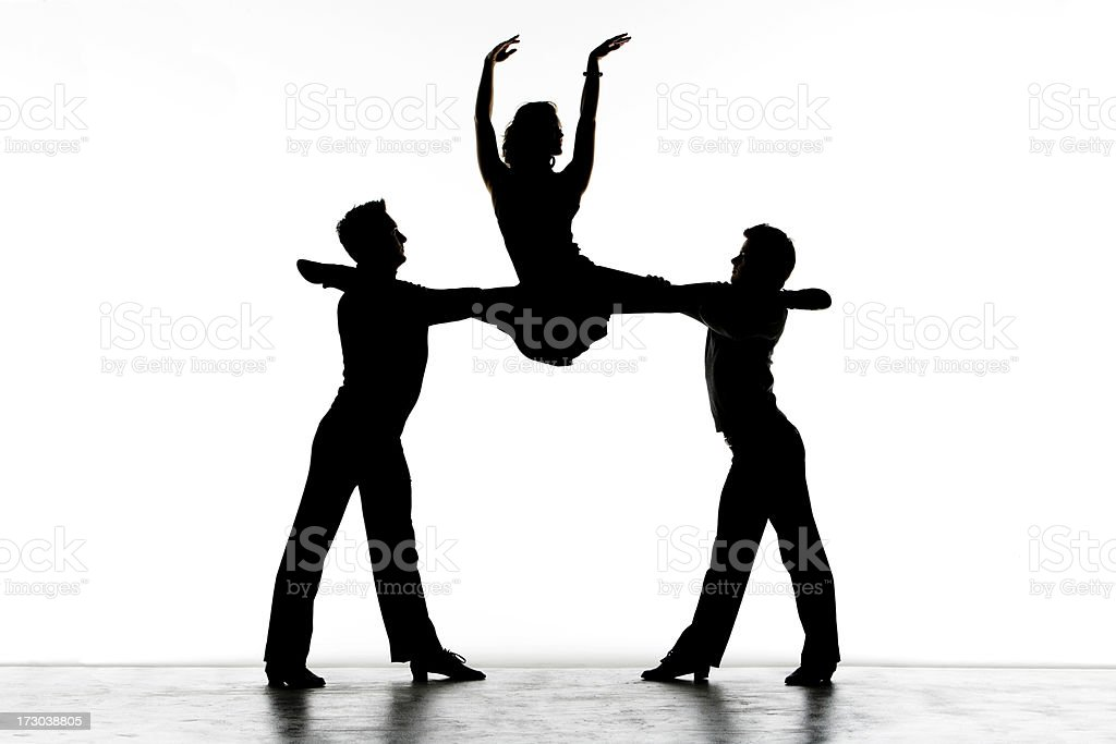 Split In The Air On A White Background royalty-free stock photo