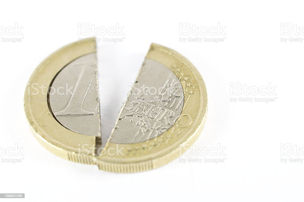 split in the European Community royalty-free stock photo