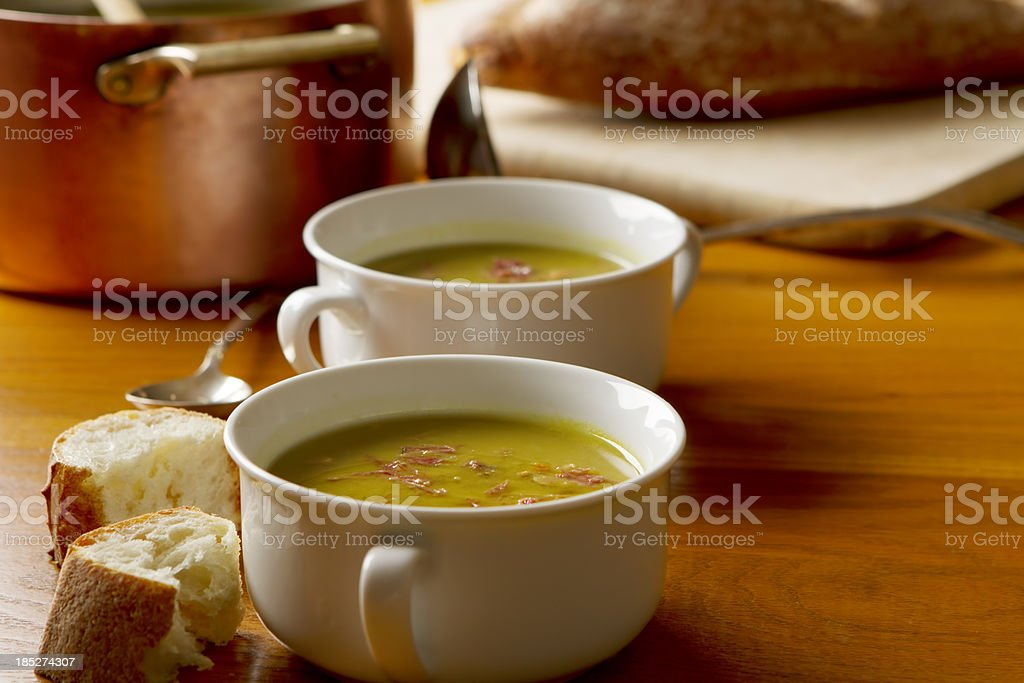 Split Pea and Ham Soup stock photo
