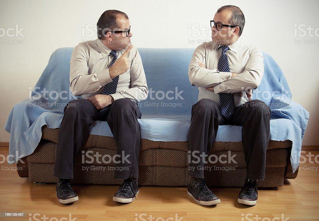 Split personality stock photo