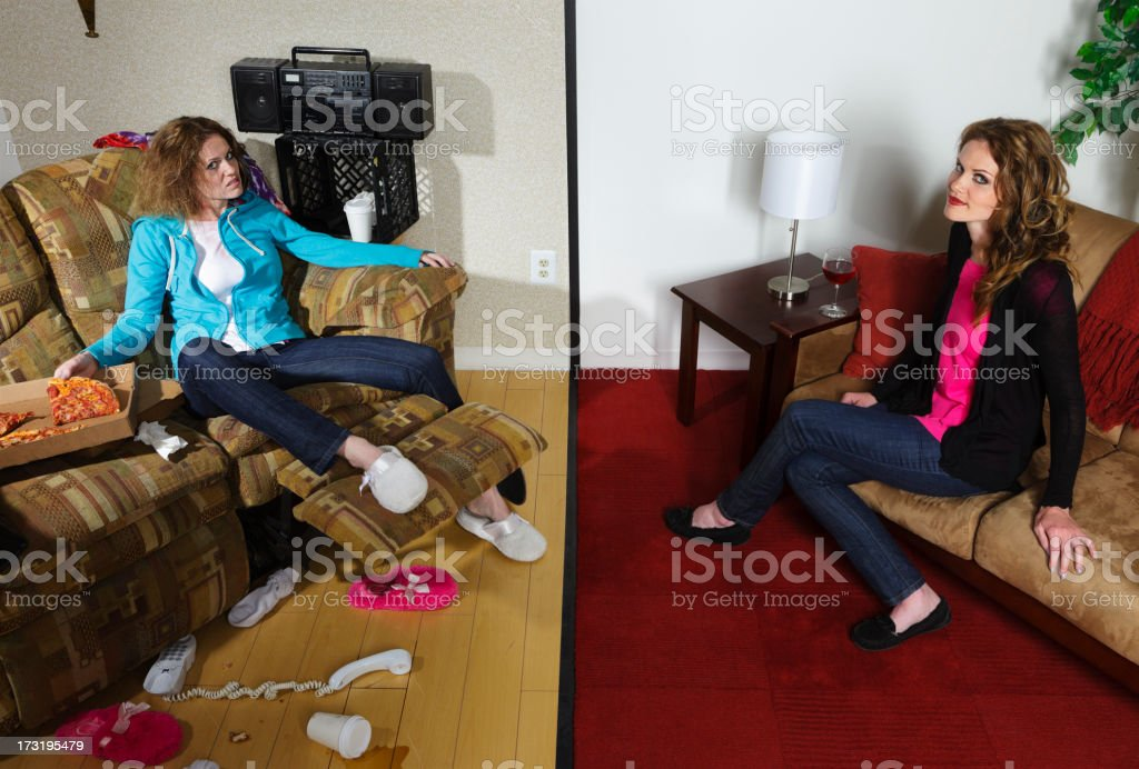 Split Personality stock photo