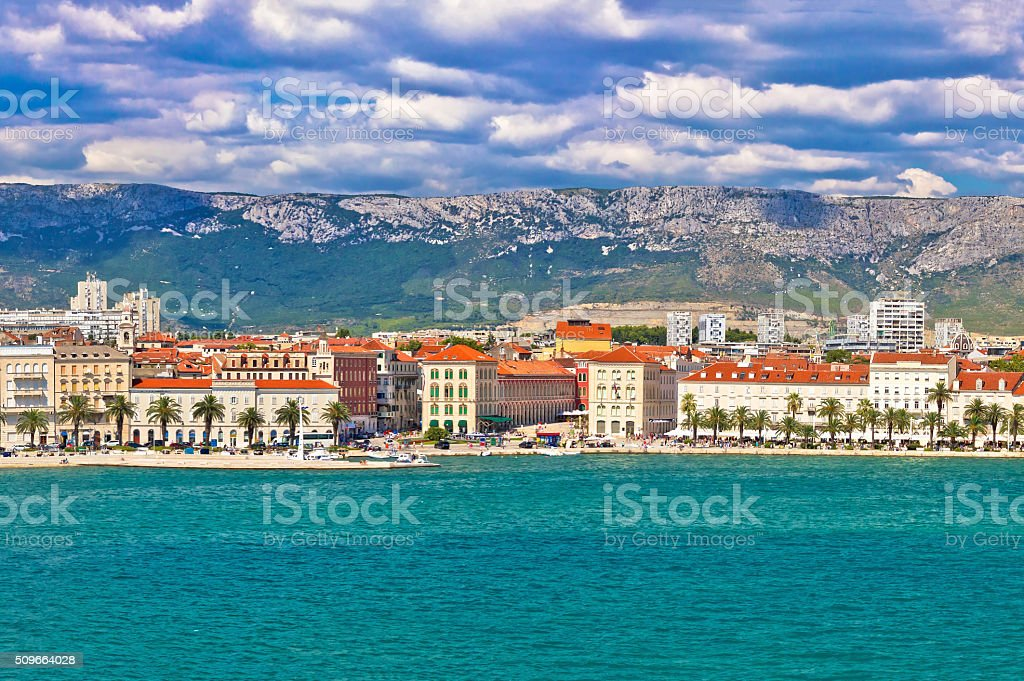 Split Prokrative square view from sea stock photo