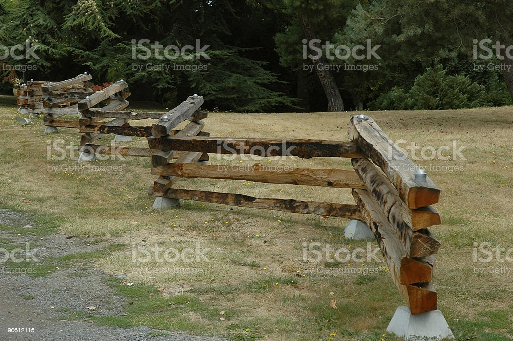 Split rail fence royalty-free stock photo