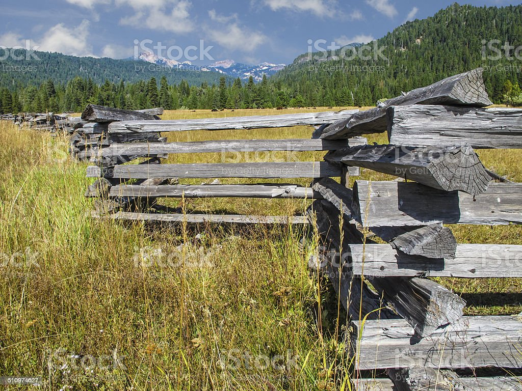 Split Rail Landscape stock photo