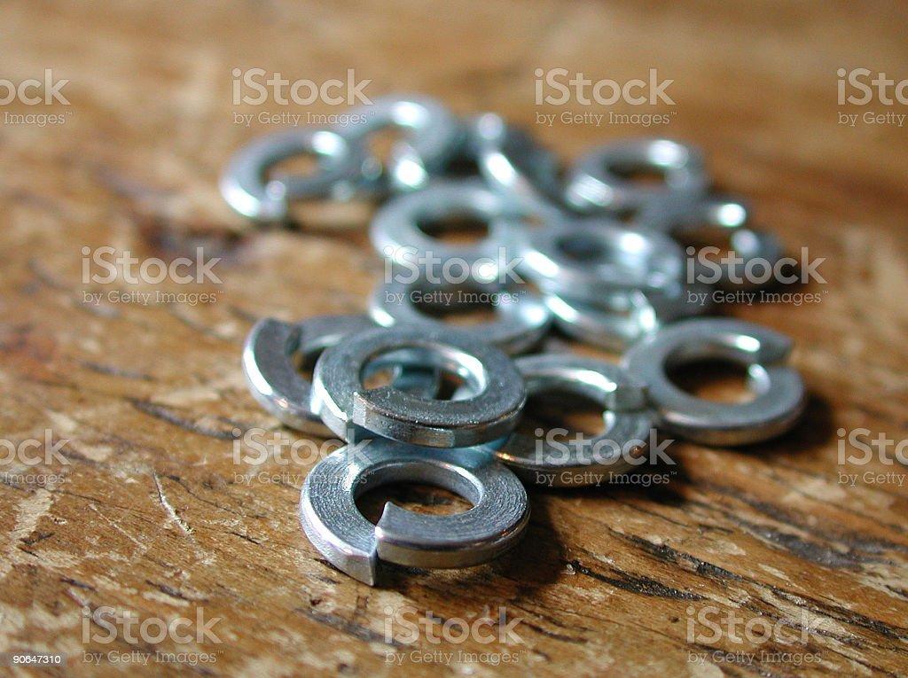 Split Rings royalty-free stock photo