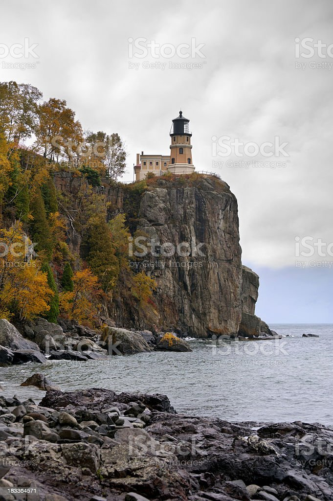Split Rock Lighthouse royalty-free stock photo