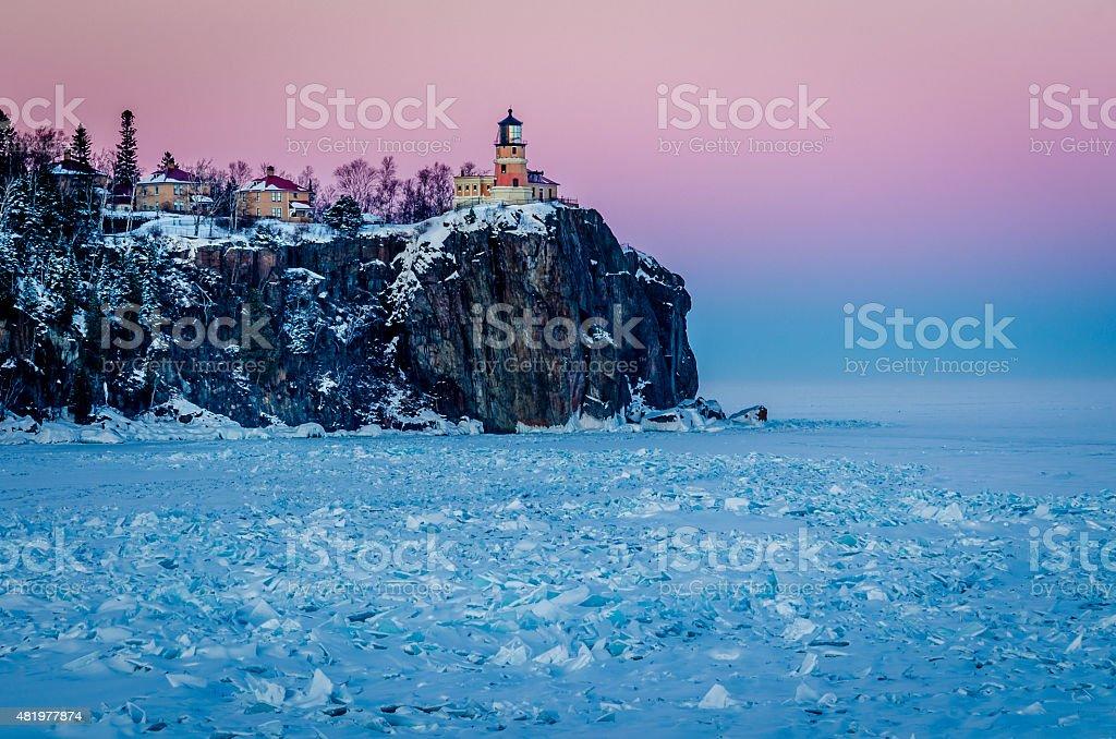 Split Rock Lighthouse stock photo